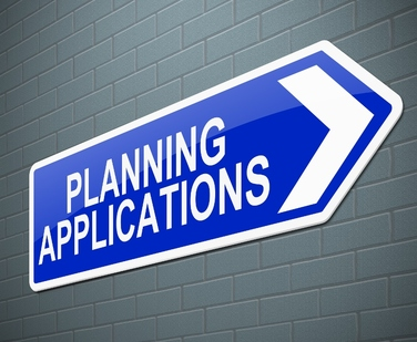 Photo of direction sign to 'planning applications'